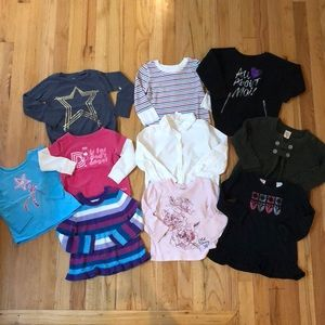Other - Lot of 10 baby girl long sleeve shirts, size 18 mo